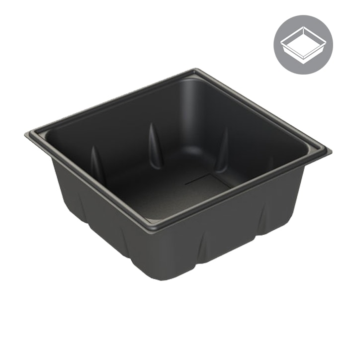 GROW1 30 Gallon Reservoir Black Square