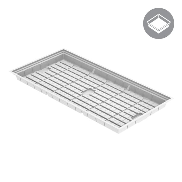 GROW1 4 X 8 Foot Flood Tray - White (Heavy Duty)