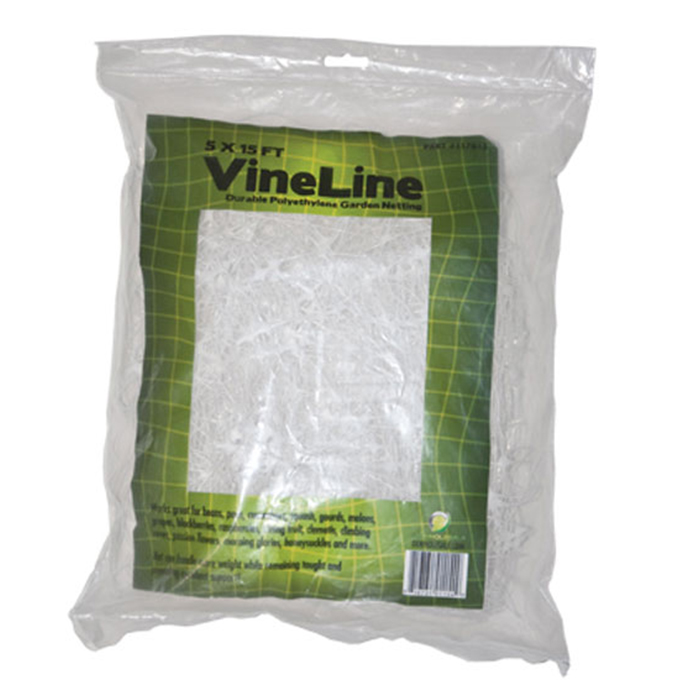 VineLine 5 X 15 Foot (WHITE) Plastic Garden Netting