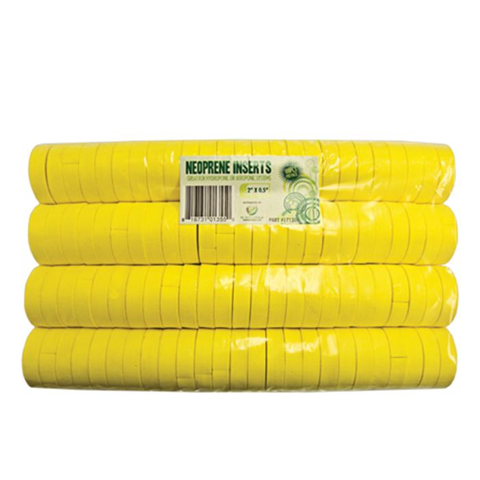 GROW1 2 Inch Neoprene Inserts (100 PER PACK) - Yellow