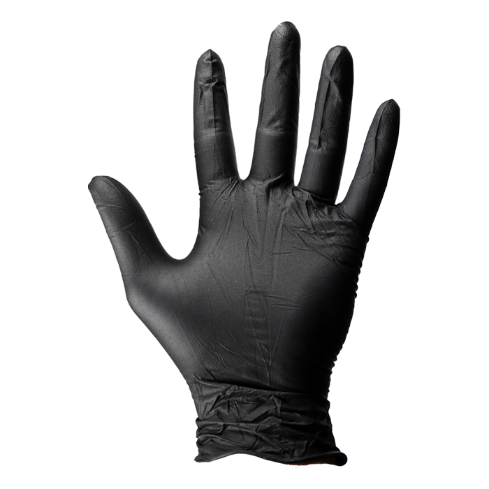 Dirt Defense Black Nitrile Gloves 100 PACK Large