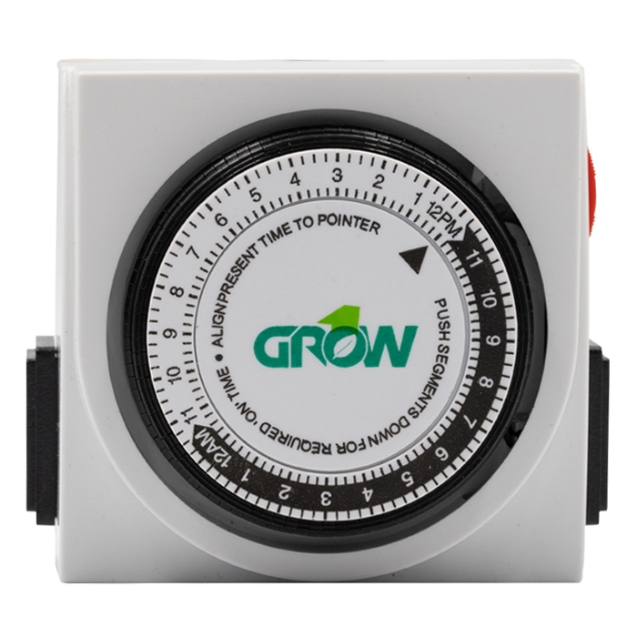 GROW1 120V Dual Outlet Mechanical Timer