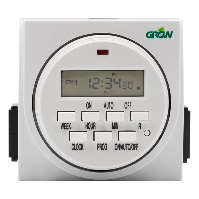 GROW1 120V Dual Outlet Digital Timer