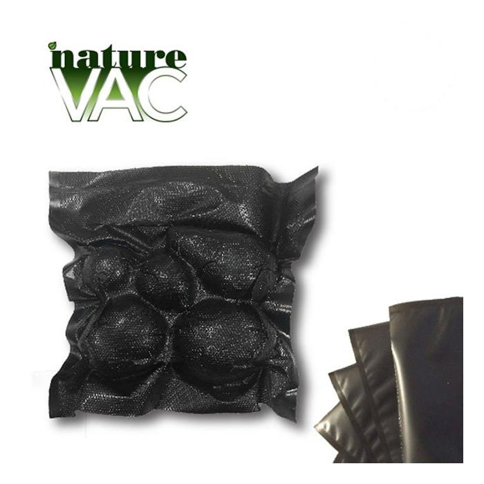 NatureVAC 15 X 20 Pre - Cut Vacuum Seal Bags ALL Black - 50 PACK
