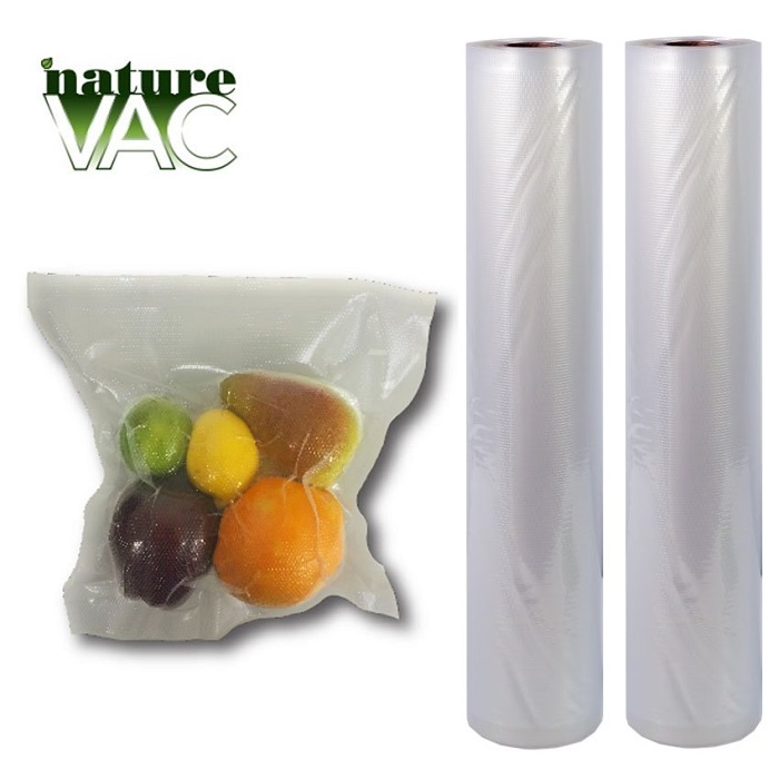 NatureVAC Vacuum Seal Bags 11 x 19.5ft ALL Clear