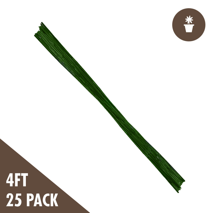 GROW1 4 Foot Green Bamboo (25 PACK)