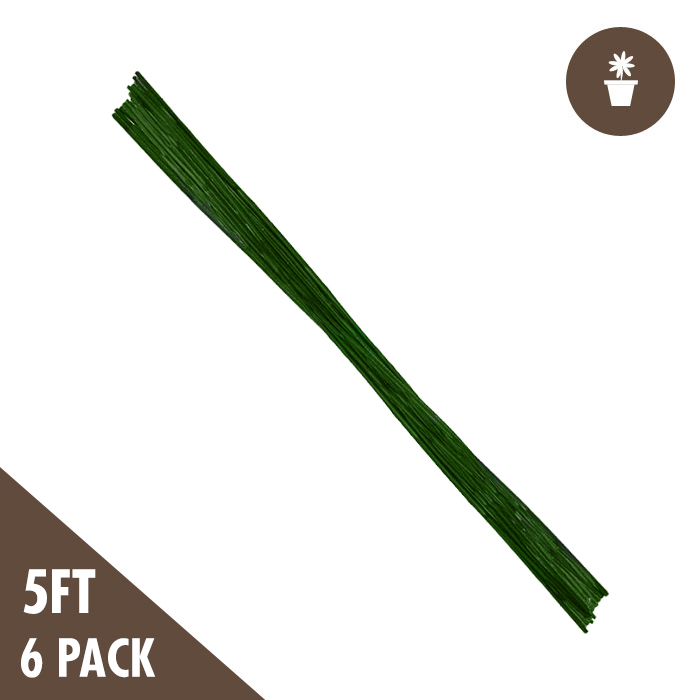 DL 5 Foot Green Bamboo Stakes Heavy Duty (6 per PACK)