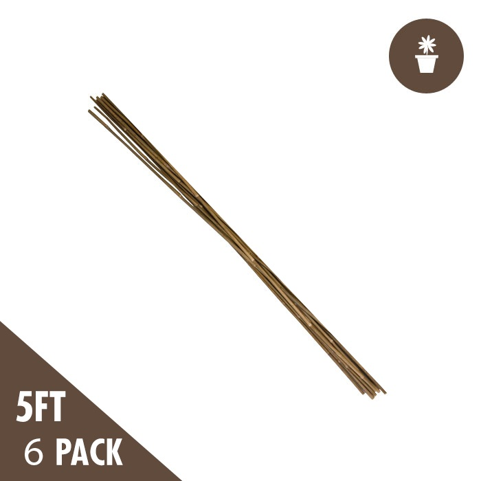 DL 5 Foot Natural Bamboo Stakes Heavy Duty (6 per PACK)