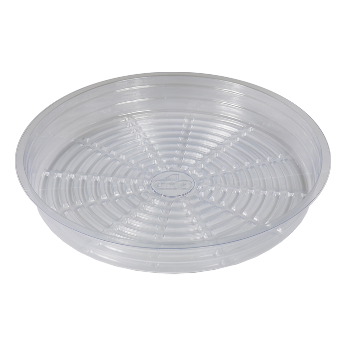 GROW1 6 Inch Clear Pot Saucer x 25 PACK
