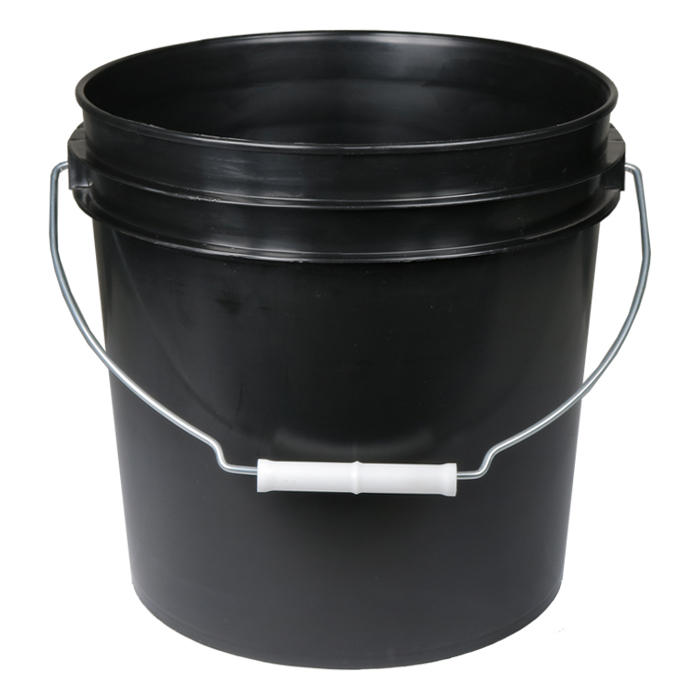 DL 2 Gallon Black Bucket W/ handle