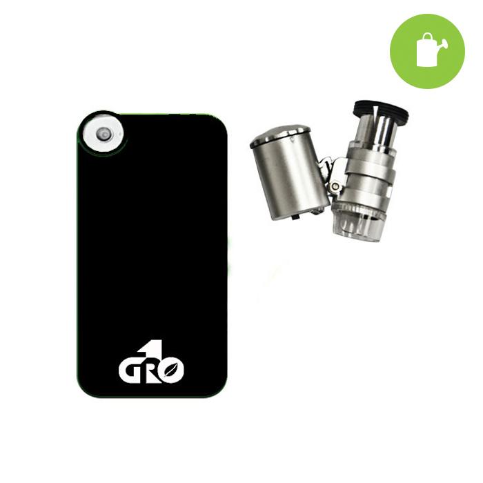 GROW1 LED Binocular Microscope W/ Iphone 4 Case