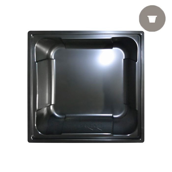 X - Trays 50 Gallon Black Square Reservoir