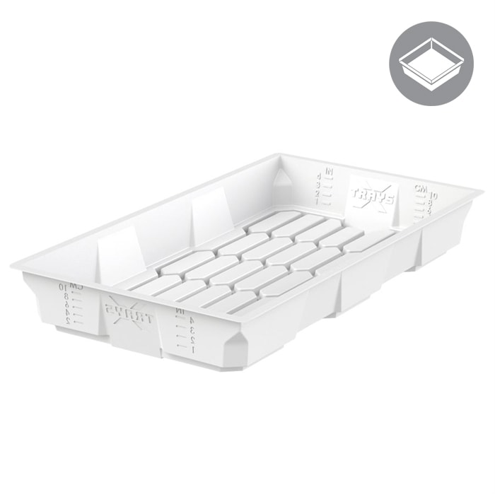 X - Trays 2x4 White Flood Table - HT1XT24W