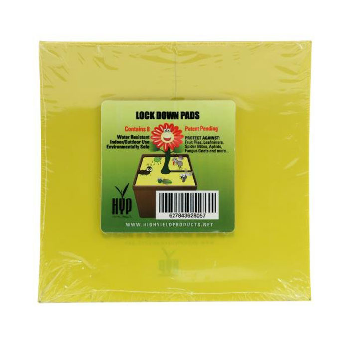 High Yields Lock Down Pads 6 Inch SQUARE - 8 PACK