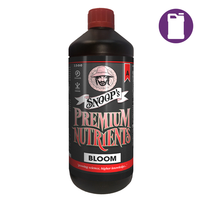 Snoopfts Premium Nutrients Bloom A Non-Circulating 20 Liter 3.1-0-0 (Soil  Hydro Run To Waste)