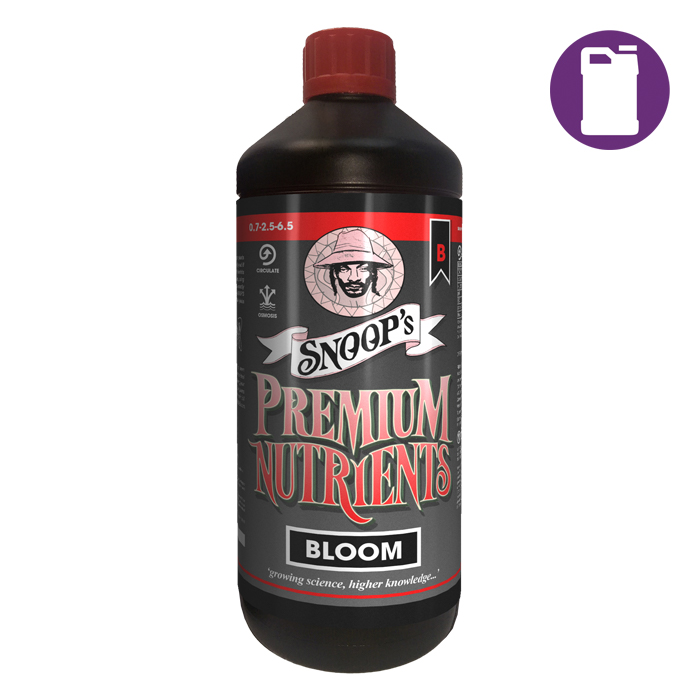 Snoopfts Premium Nutrients Bloom B Circulating 5 Liter 0.7-2.5-6.5 (Hydro Recirculating)