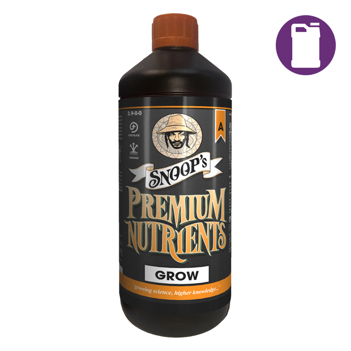 Snoopfts Premium Nutrients Grow A Circulating 5 Liter 3.9-0-0 (Hydro Recirculating)