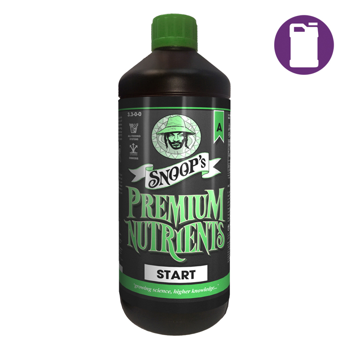 Snoop's Premium Nutrients Start A 1 Liter 4-0-0 (Soil Hydro Run To Waste - Hydro Recirculating)